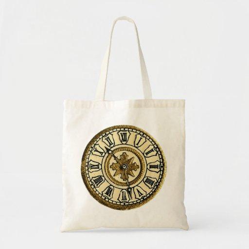 Reloj del vintage bolsa tela barata