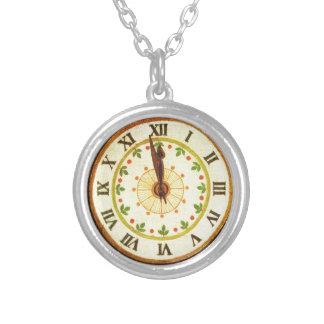 Reloj del vintage cuenta descendiente al navidad colgantes personalizados