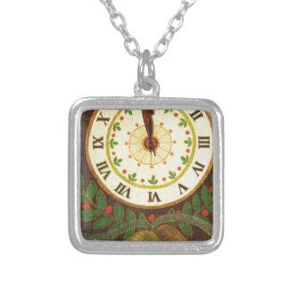 Reloj del vintage cuenta descendiente al navidad colgantes