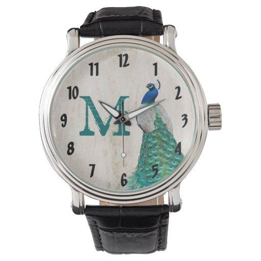 Reloj del vintage de la turquesa del trullo de la