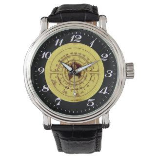 Reloj del vintage del dial de la emisión de radio