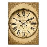 Reloj del vintage en el primer aniversario de boda comunicados