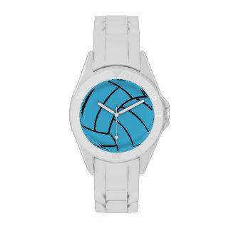 Reloj del voleibol de la turquesa