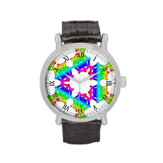 Reloj del Web de araña del arco iris
