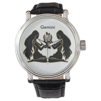 Reloj del zodiaco de los géminis