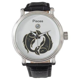 Reloj del zodiaco de Piscis