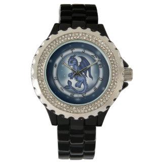 Reloj del zodiaco de Piscis del dragón