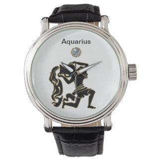 Reloj del zodiaco del acuario