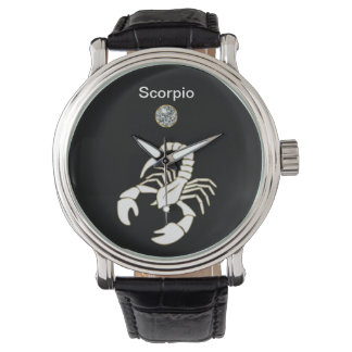 Reloj del zodiaco del escorpión
