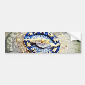 Reloj del zodiaco en Munich Etiqueta De Parachoque