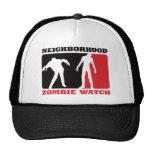 Reloj del zombi de la vecindad - rojo gorras de camionero