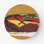 Reloj delicioso del cheeseburger