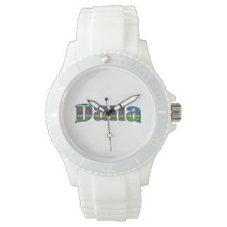 Reloj deportivo blanco de Dana