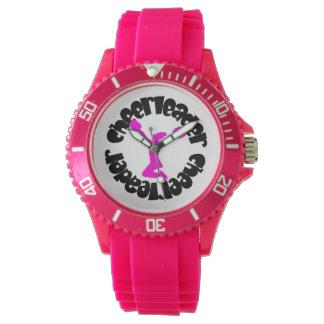 Reloj deportivo de la animadora en rosa