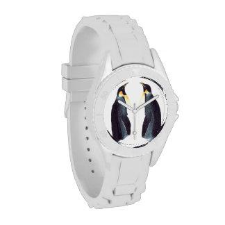 Reloj deportivo de los pingüinos de emperador