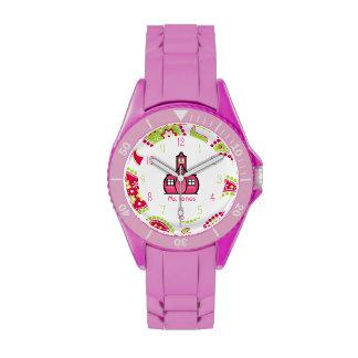Reloj deportivo de Paisley y del profesor rosado d