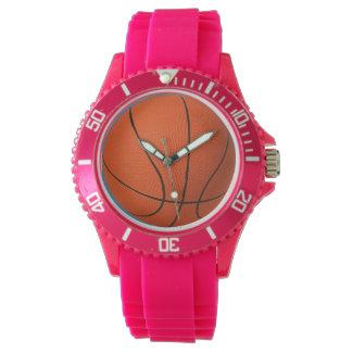 Reloj deportivo del baloncesto