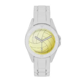 Reloj deportivo del voleibol