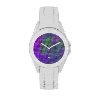 Reloj deportivo geométrico colorido