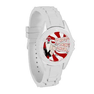 Reloj deportivo gruñón de Santa