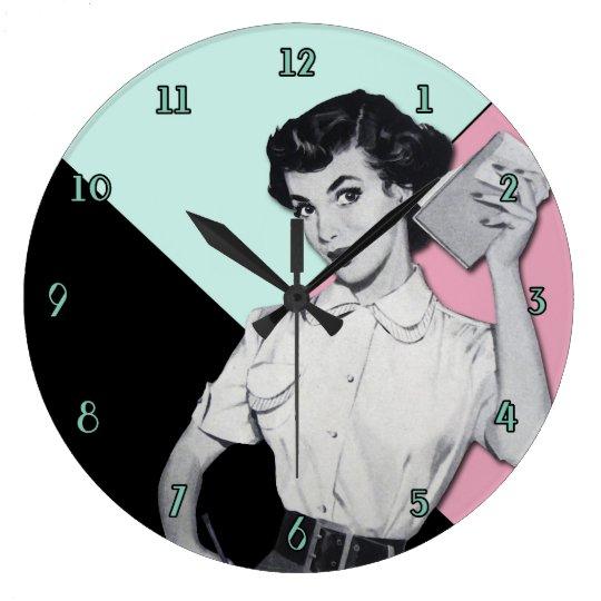Reloj descarado de la secretaria pared