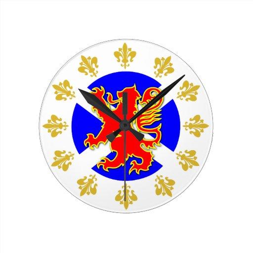 Reloj desenfrenado del león de Escocia