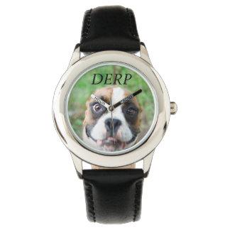 Reloj desorejado del perro de Derp de los niños
