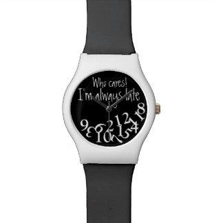 Reloj divertido blanco y negro siempre último dive