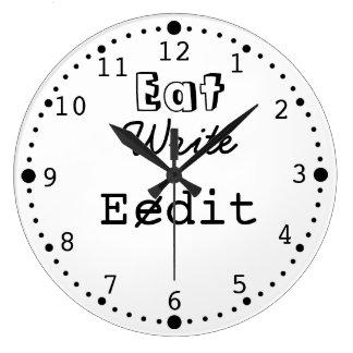 Reloj divertido de la escritura para el autor de