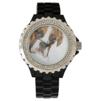 Reloj divertido de la expresión del perro del