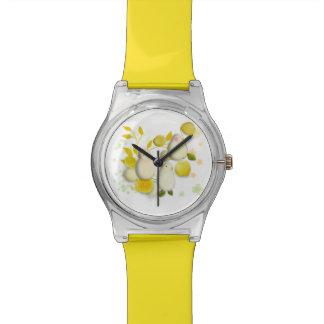 Reloj divertido de los pájaros y de los limones