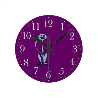 Reloj divertido del Animal-amante del dibujo del g