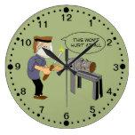 Reloj divertido del dibujo animado de Woodturning