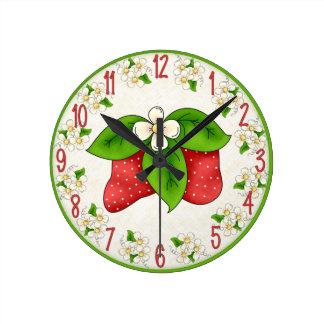 Reloj dulce de la fresa