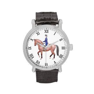 Reloj ecuestre del caballo del Dressage