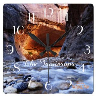Reloj, el parque nacional de Zion de los estrechos
