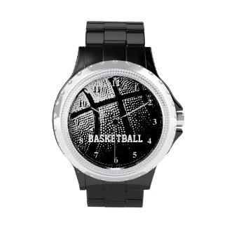 Reloj el | Personalizable del baloncesto con nombr