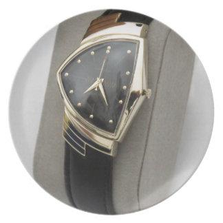 Reloj eléctrico c.1957 de Hamilton Ventura Platos Para Fiestas