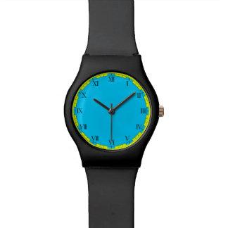 Reloj elegante azul