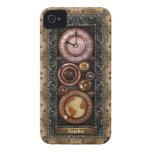 Reloj elegante de Steampunk del vintage iPhone 4 Carcasa