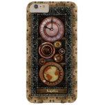 Reloj elegante de Steampunk del vintage Funda De iPhone 6 Slim