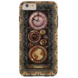 Reloj elegante de Steampunk del vintage Funda De iPhone 6 Plus Tough