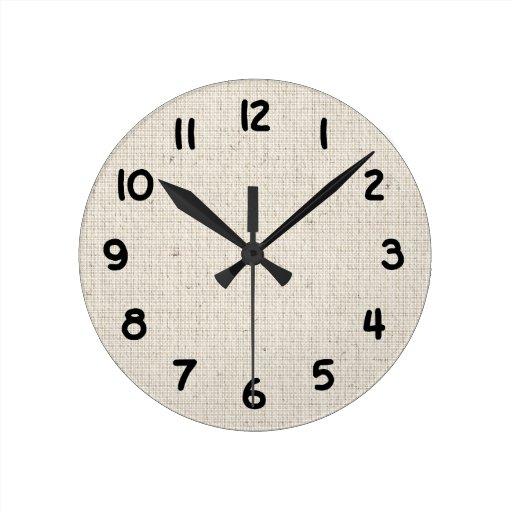 Reloj elegante del fondo de lino ligero