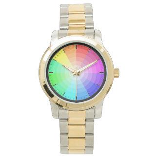 Reloj elegante multicolor para los hombres -