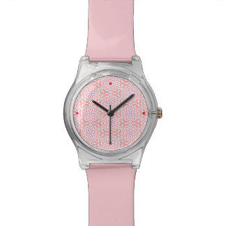 Reloj en colores pastel rosado del diseñador del e