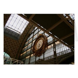 Reloj en d'Orsay Tarjeta De Felicitación