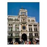 Reloj en el cuadrado de St Mark, Venecia Tarjeta Postal