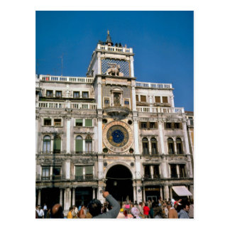 Reloj en el cuadrado de St Mark Venecia Tarjeta Postal