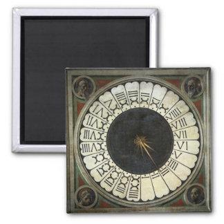 Reloj en el Duomo de Paolo Uccello Imán Cuadrado