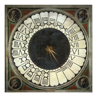 Reloj en el Duomo de Paolo Uccello Invitación 13,3 Cm X 13,3cm